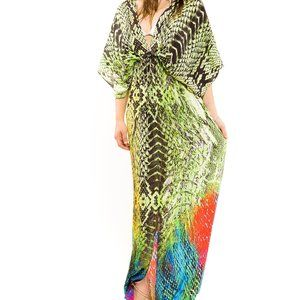 Lotta Stensson Electric Snake Print Gown